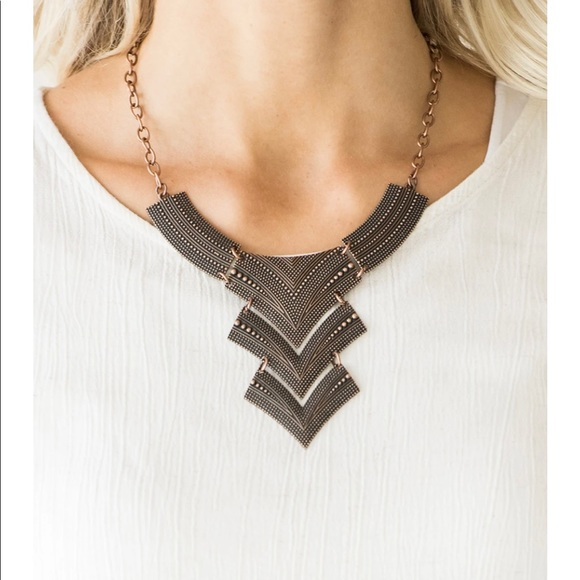 Fiercely Pharaoh Paparazzi Copper Necklace